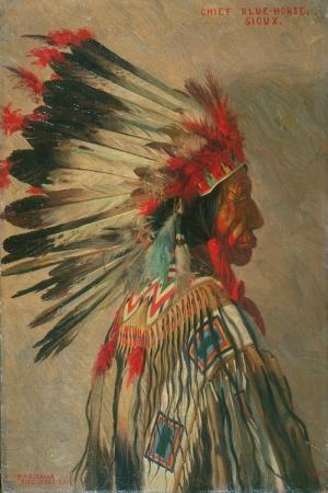 Kızıl Derililer Amerikan Yerlileri-38 Modern Sanat Kanvas Tablo