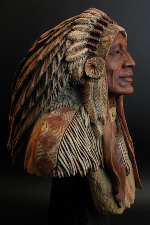 Kızıl Derililer Amerikan Yerlileri-44 Modern Sanat Kanvas Tablo