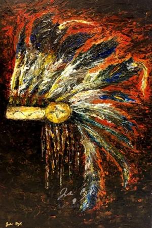 Kızıl Derililer Amerikan Yerlileri-46 Modern Sanat Kanvas Tablo