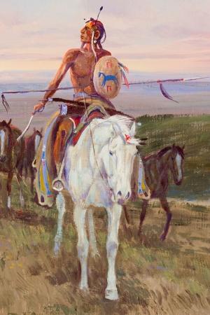 Kızıl Derililer Amerikan Yerlileri-99 Modern Sanat Kanvas Tablo
