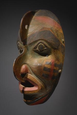 Kızıl Derililer Maske Amerikan Yerlileri-22 Modern Sanat Kanvas Tablo