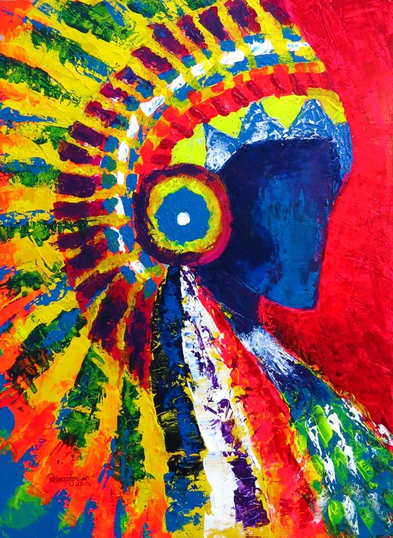 Kızılderili Sanat Kanvas Tablo