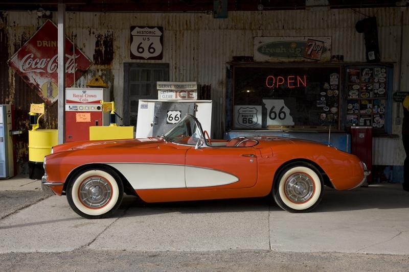 Klasik Corvette Otomobil Araçlar Kanvas Tablo