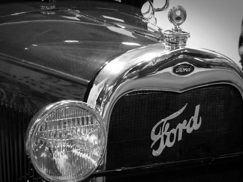 Klasik Ford Otomobil Araçlar Kanvas Tablo