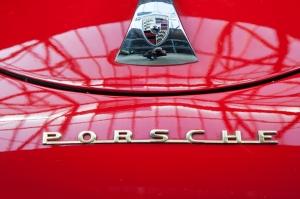Klasik Kırmızı Porsche Otomobil Araçlar Kanvas Tablo
