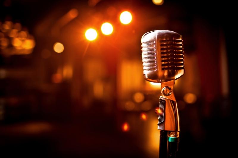 Klasik Mikrofon Fotoğraf Kanvas Tablo