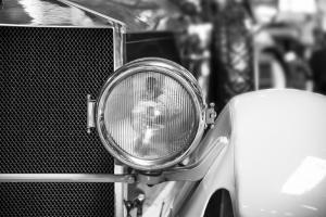 Klasik Otomobil 2 Araçlar Siyah Beyaz Fotoğraf Kanvas Tablo