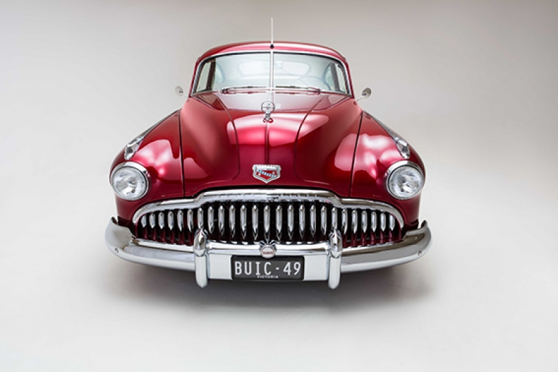 Klasik Otomobil Kırmızı Kanvas Tablo