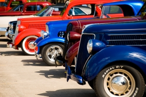 Klasik Otomobiller Araçlar Kanvas Tablo