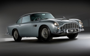 Klasik Otomobiller Aston Martin 1 DB5 1964 Model Klasik Arabalar Kanvas Tablo
