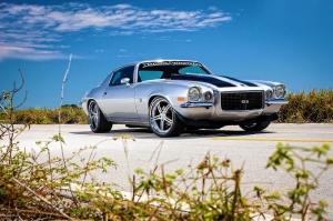 Klasik Otomobiller Chevrolet Camaro SS 4 Amerikan Klasik Arabalar Kanvas Tablo