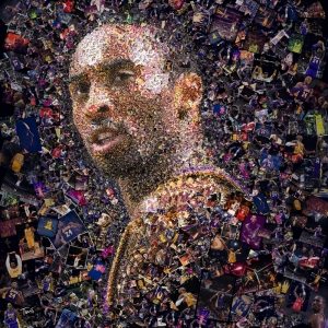 Kobe Bryant Mozaik İllustrasyon Kanvas Tablo
