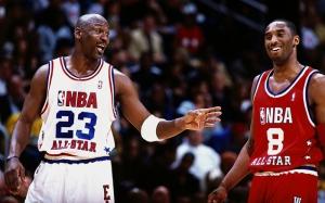 Kobe Bryant ve Michael Jordan Basketbol All Star Maçı Kanvas Tablo