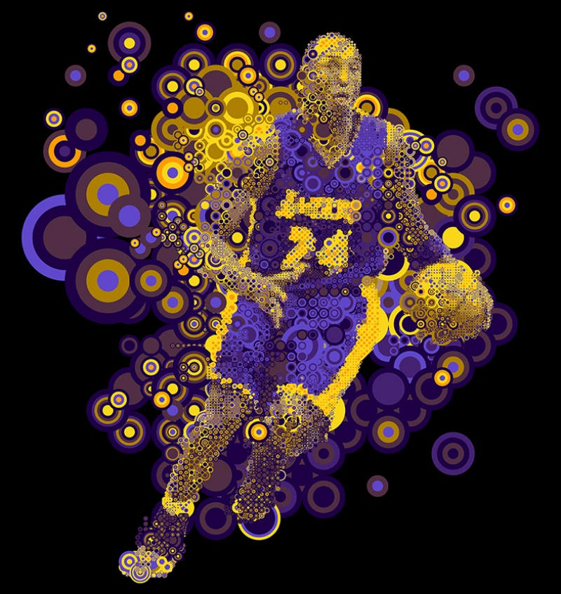Kobe Byrant Los Angeles Lakers Basketbol Kanvas Tablo
