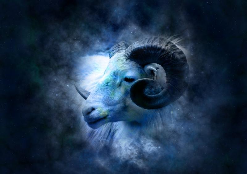 Koç Burcu Astroloji & Burçlar Kanvas Tablo