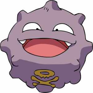 Koffing Pokemon Karakterleri Kanvas Tablo