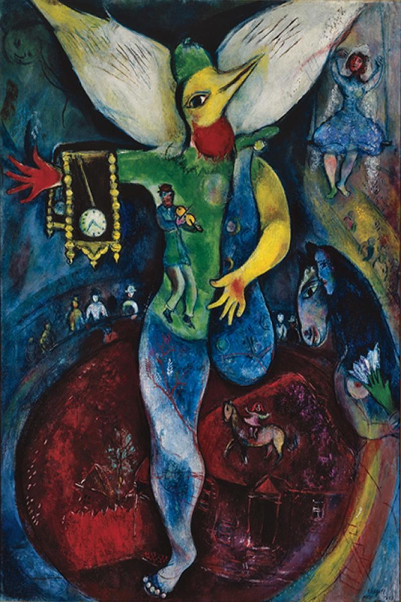 Kolaj Marc Chagall Collage Klasik Sanat Kanvas Tablo