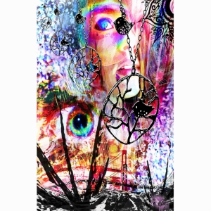 Kolaj Soyut Abstract Sanat Kanvas Tablo