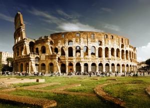 Kolezyum Roma İtalya Şehir Manzarası Dünyaca Ünlü Şehirler Kanvas Tablo