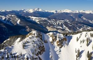Kolorado Usa Karlı Dağlar Doğa Manzaraları Kanvas Tablo