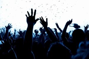 Konser Seyirci Yağlı Boya Sanat Kanvas Tablo