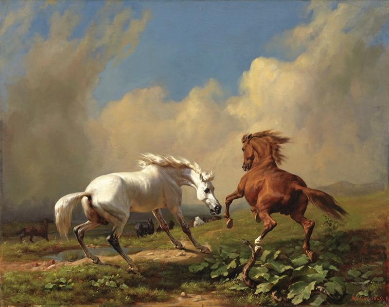 Koşan Atlar Sanat Kanvas Tablo