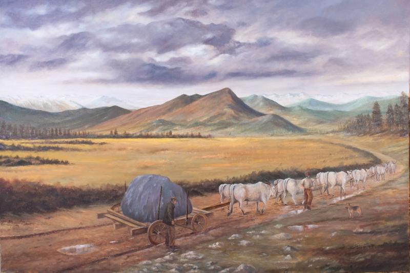 Köy Doğa Manzarası 4 Yağlı Boya Sanat Kanvas Tablo