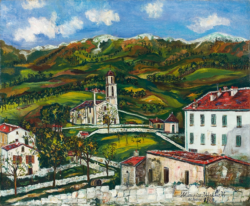Köy Manzarası Yağlı Boya Sanat Kanvas Tablo