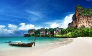Krabi Sahili Tayland Doğa Manzaraları Kanvas Tablo