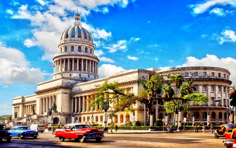 Küba Dünyaca Ünlü Şehirler Kanvas Tablo