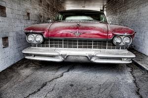 Kuba Eski Klasik Otomobil Kanvas Tablo