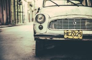 Küba Klasik Araçlar Kanvas Tablo