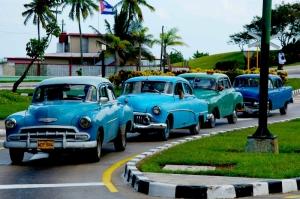 Kuba Klasik Otomobiller 1 Amerikan Klasik Arabalar Eski Araclar Kanvas Tablo
