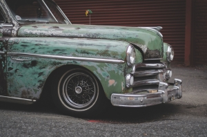 Kübada Eski Bir Otomobil Araçlar Kanvas Tablo