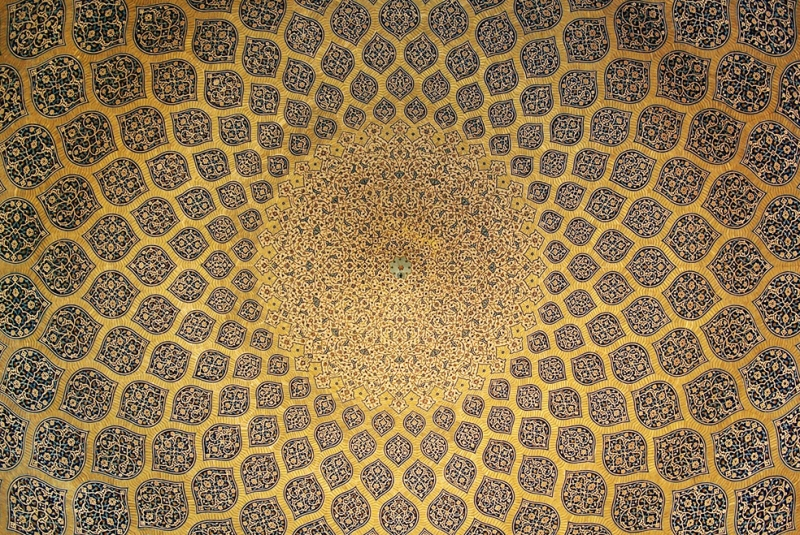 Kubbe Desen İşleme Dini & İnanç Kanvas Tablo