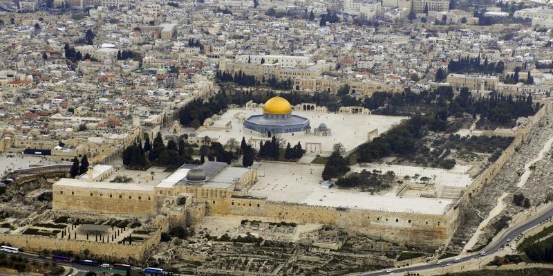 Kubbestüs Sahra ve Muallak Taşı Kudüs Dini İnanç Kanvas Tablo
