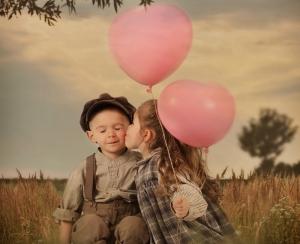 Küçük Çift Aşk 2 Fotoğraf Kanvas Tablo