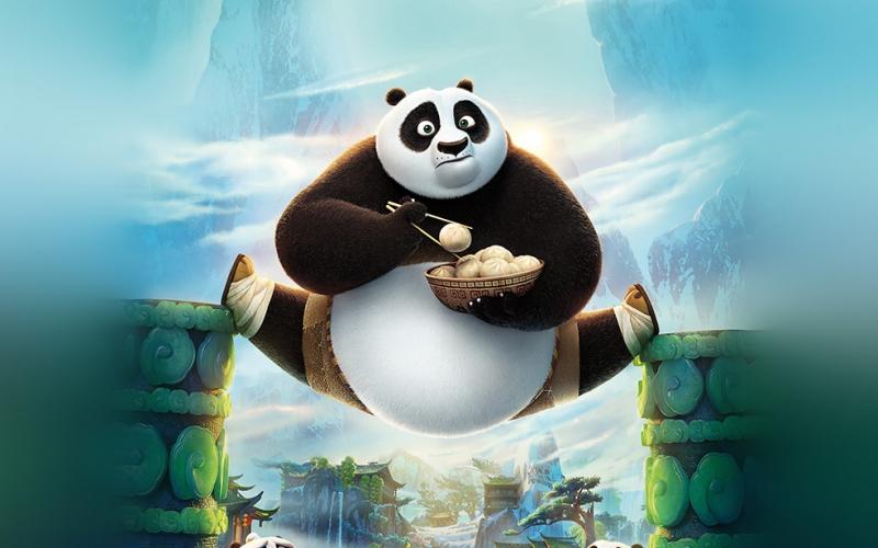 Kungfu Panda Popüler Kültür Kanvas Tablo