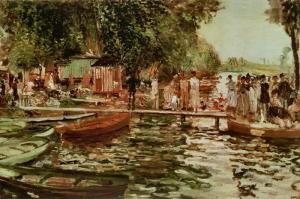 Kurbağa, Pierre August Renoir, La Grenouille Klasik Sanat Kanvas Tablo