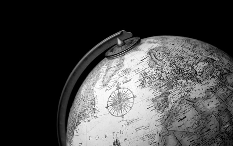 Küre Dünya Haritası Fotoğraf Kanvas Tablo