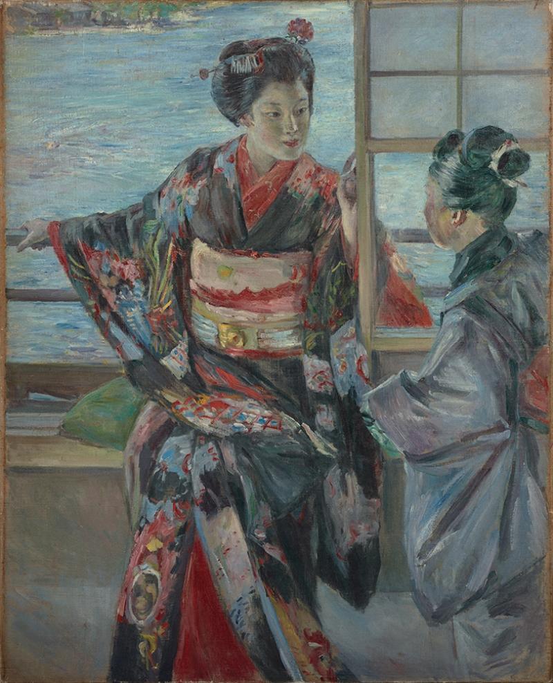 Kuroda Maiko Japon Sanatı Yağlı Boya Sanat Kanvas Tablo