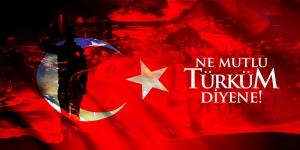 Kurtuluş Savaşı Mehmetçik ve Şanlı Türk Bayrağı Türk Tarihi Kanvas Tablo
