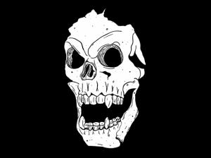 Kuru Kafa Siyah Beyaz Popüler Kültür Kanvas Tablo