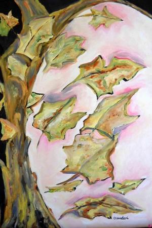 Kuru Yapraklar Sanat Kanvas Tablo