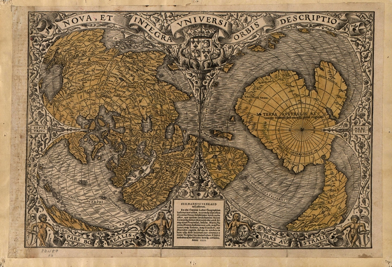 Kus Bakisi Dunya Haritasi 2 Cografya Kanvas Tablo