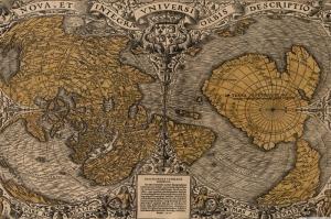 Kus Bakisi Dunya Haritasi Cografya Kanvas Tablo