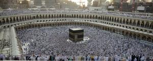 Kuş Bakışı Kabe Manzarası Dini & İnanç Kanvas Tablo