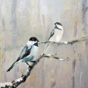 Kuşlar 2, Dekoratif Kanvas Tablo