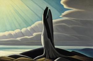 Kuzey Kıyısı Üst Göl, Lawren Harrance Klasik Sanat Kanvas Tablo