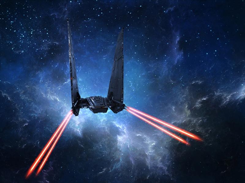 Kylo Ren The Force Awakens Spacecraft Star Wars Kanvas Tablo